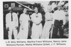 Billy Williams, Wife, two Sisters, Brother