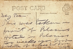 Charlie Siringo Postcard Palacios Hotel