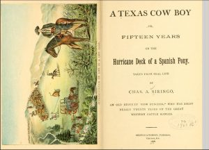 A Texas Cowboy - another scan of the inside cover and title page